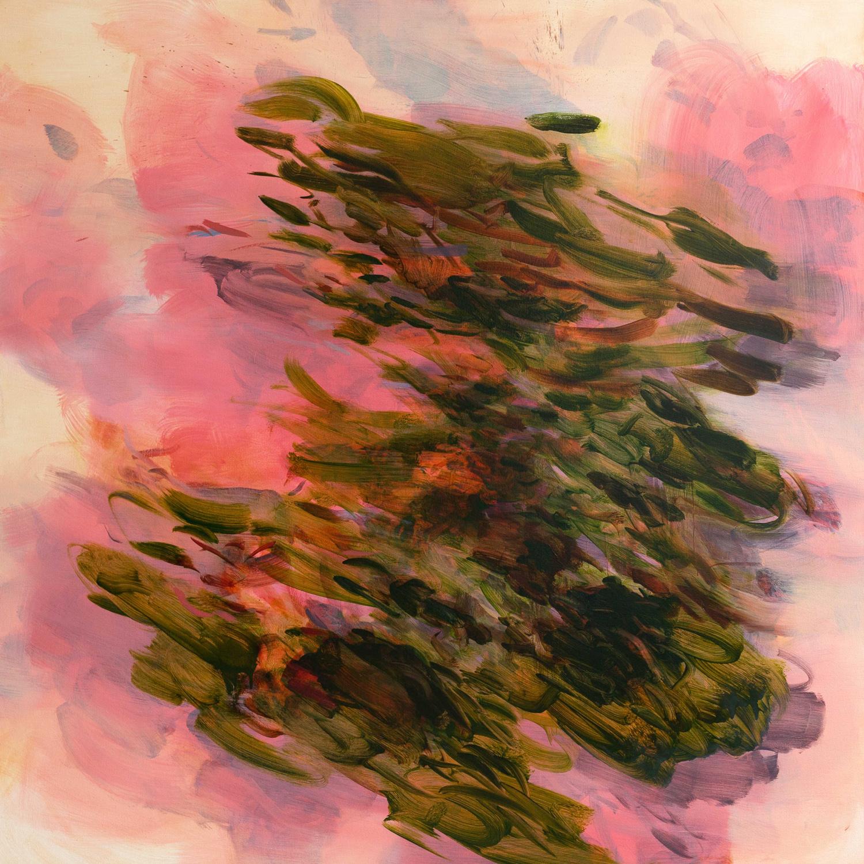 Untitled  (pink-irgazine)  2016  oil on canvas  145 x 145 cm