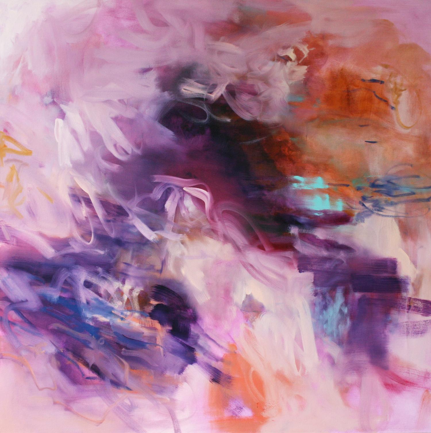 Untitled  (semi-dark ground  purple)  2016  oil on canvas  145 x 145 cm