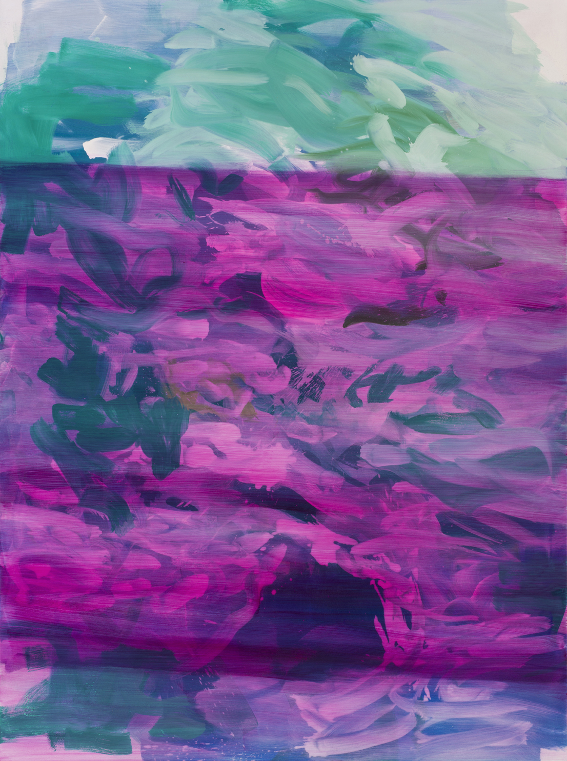 Untitled  (Magenta)  2017  Oil on canvas  199 x 148cm