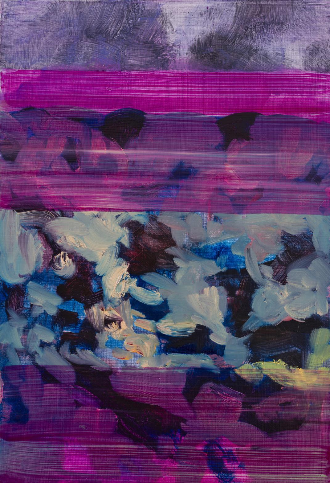 Untitled  (phlalo magenta)  2017  Oil on panel  32 x 22cm