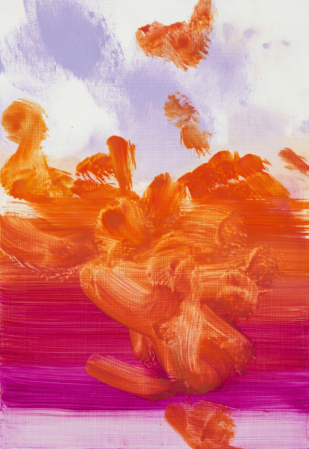 Untitled  (pink orange)  2017  Oil on panel  32 x 22cm