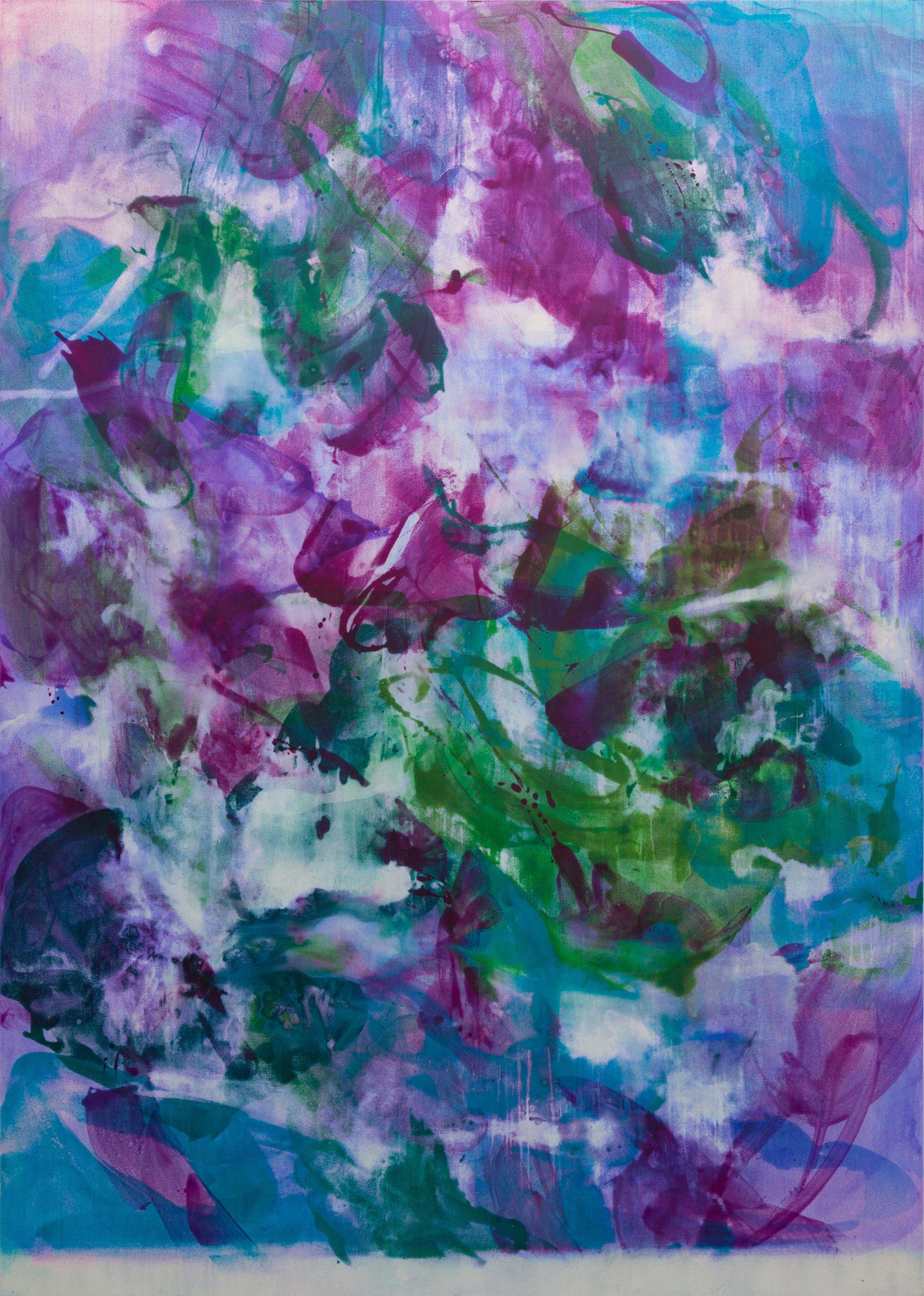 Distemper I  2018-2019  distemper on canvas  (pure pigment, rabbit skin glue)  213 x 152.5 cm