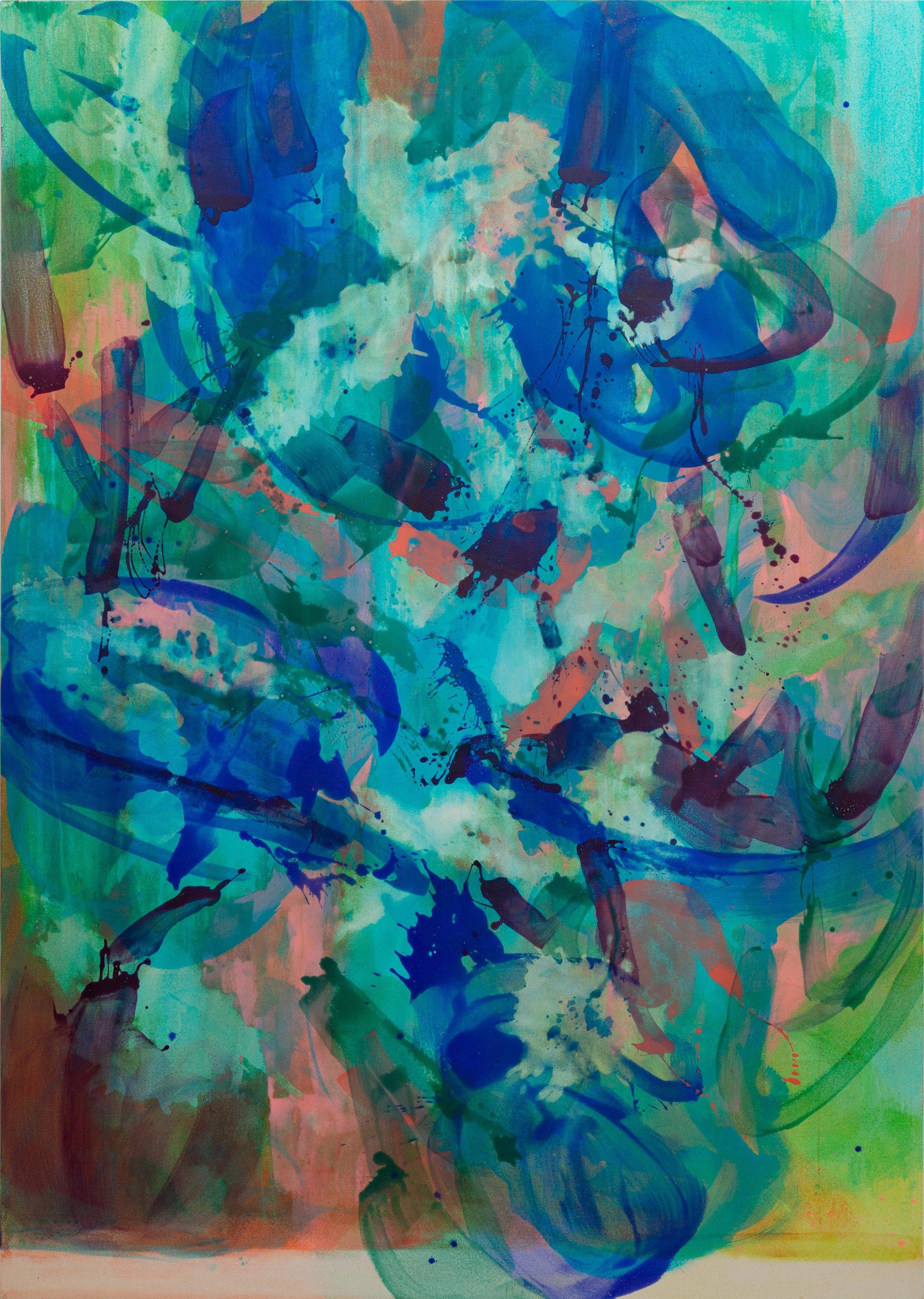 Distemper II  2018-2019  distemper on canvas  (pure pigment, rabbit skin glue)  213 x 152.5 cm