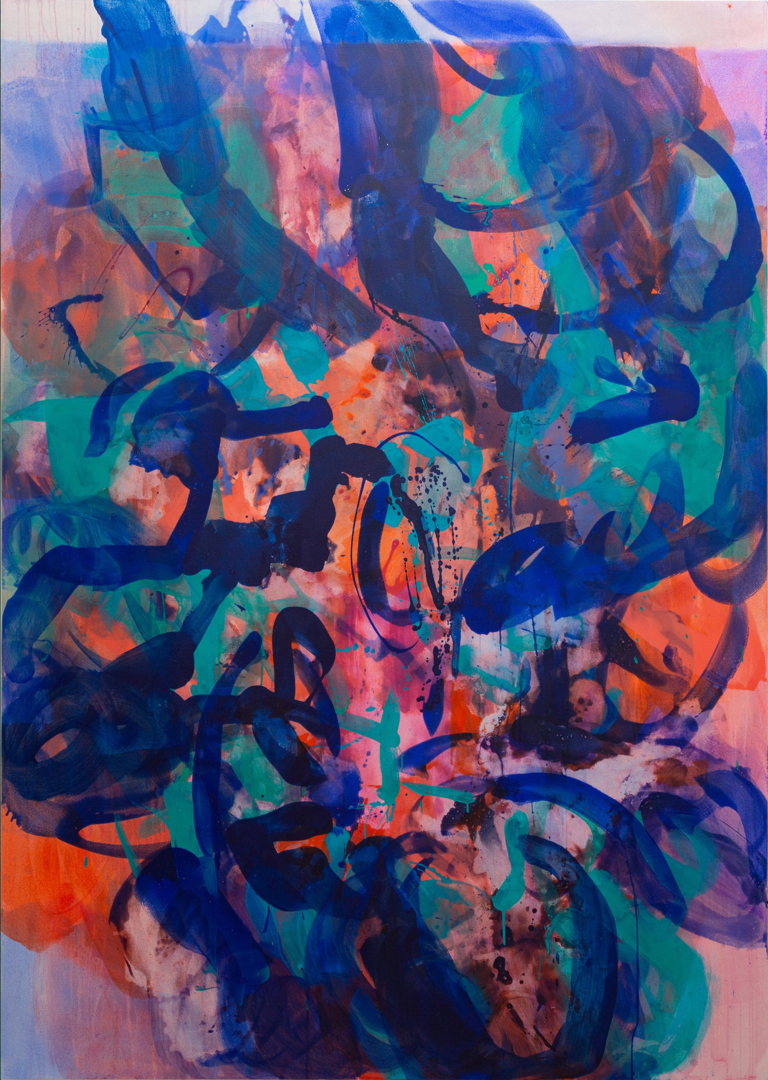 Distemper III  2018-2019  distemper on canvas  213 x 152.5 cm