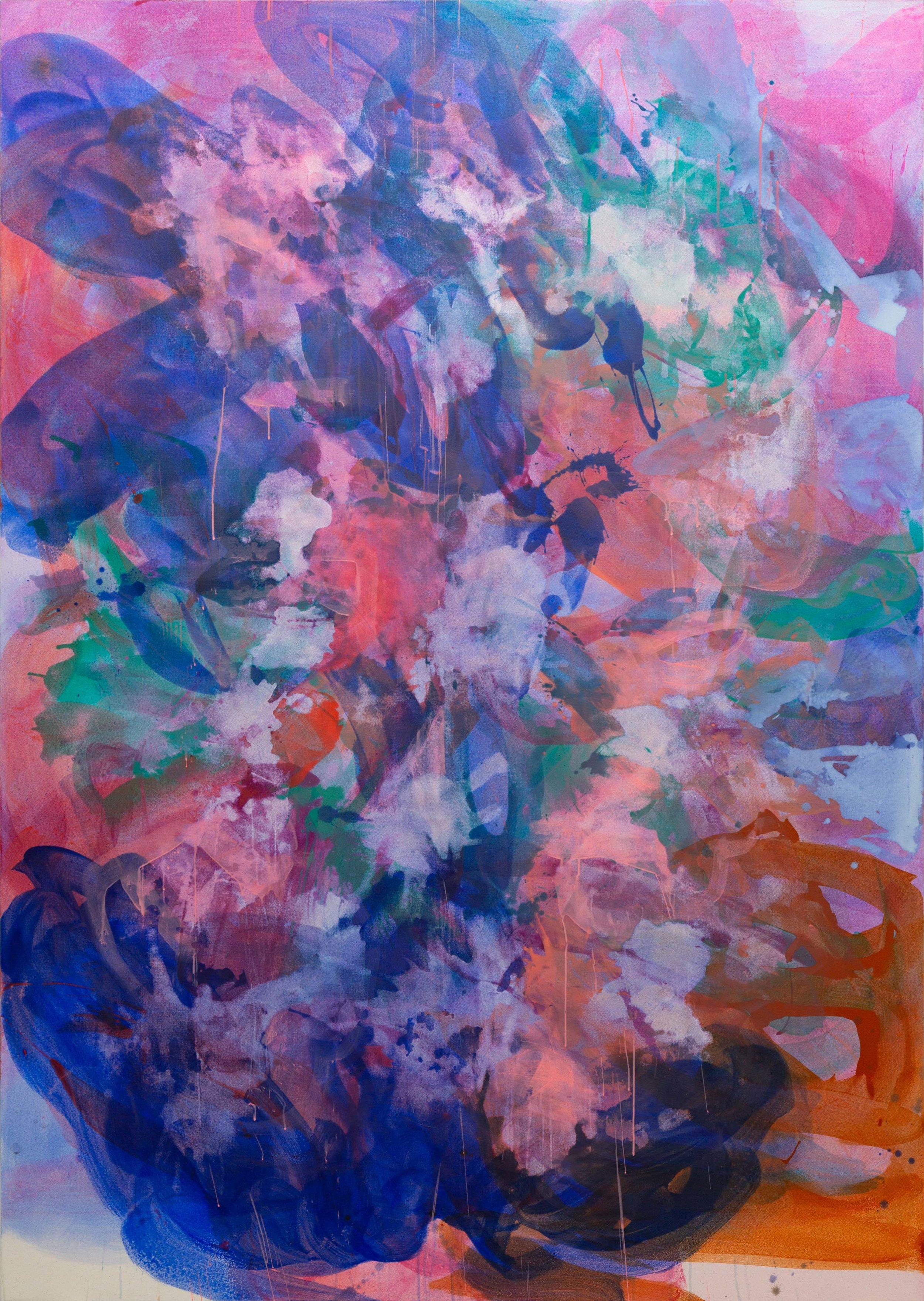 Distemper xl I  2018-2019  distemper on canvas  235.5 x 165 cm