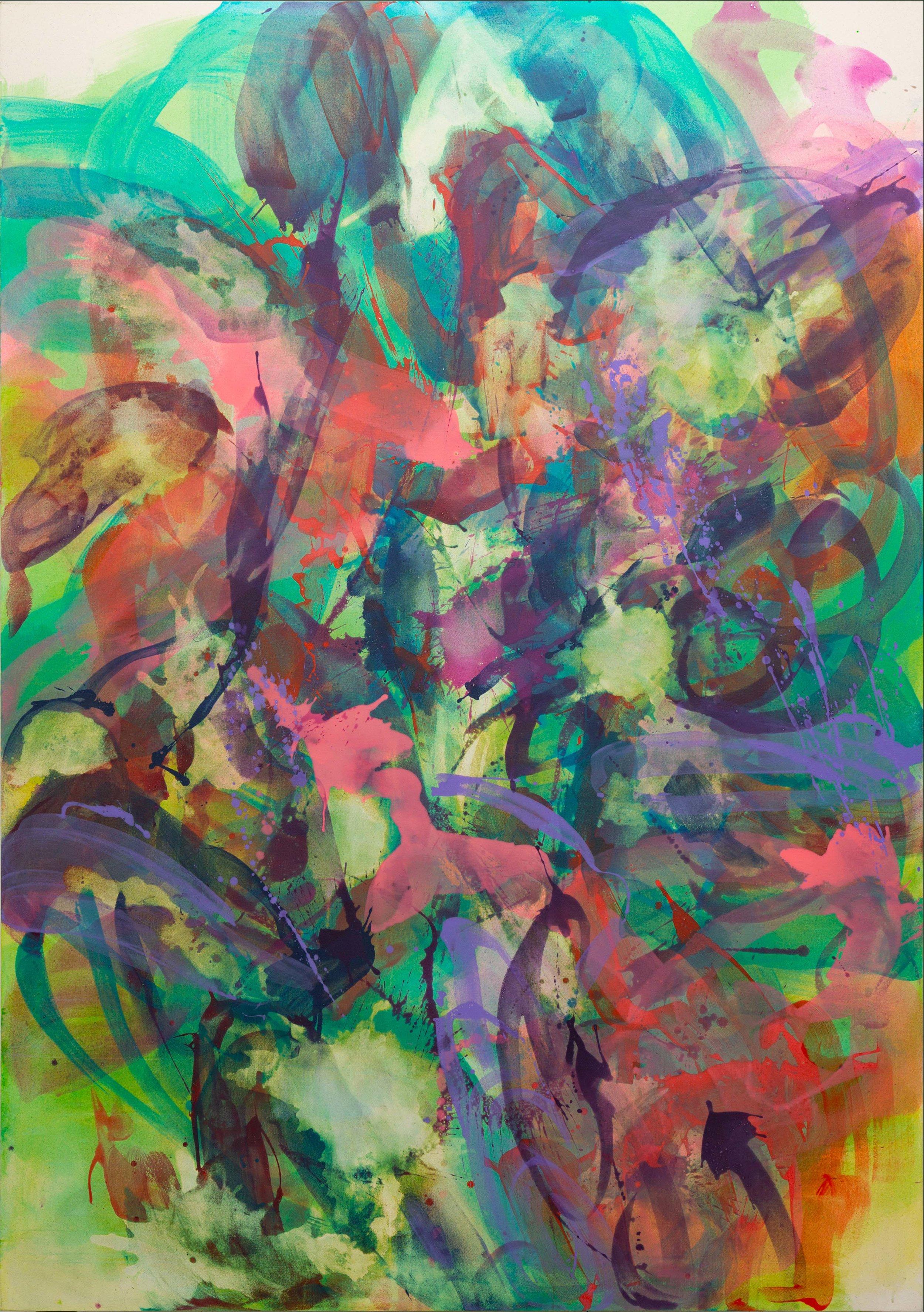 Distemper xl II  2019  distemper on canvas  (pure pigment, rabbit skin glue)  235.5 x 165 cm