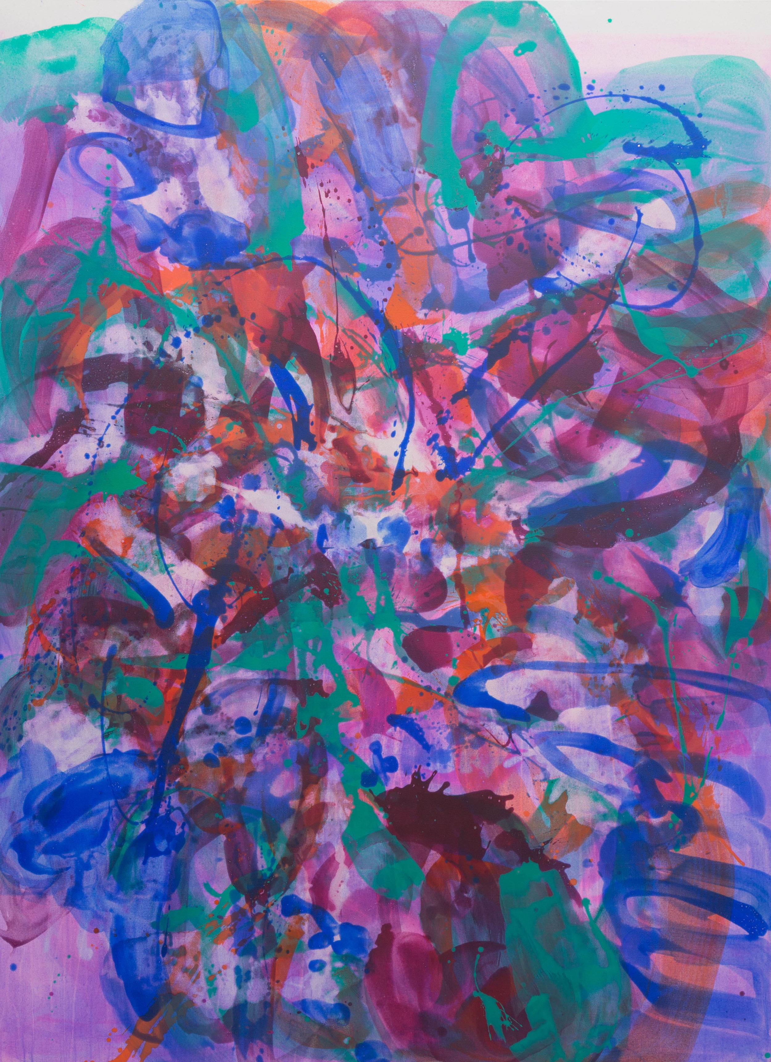 Distemper Composition I  2019  distemper on canvas  (pure pigment, rabbit skin glue)  198 x 145 cm