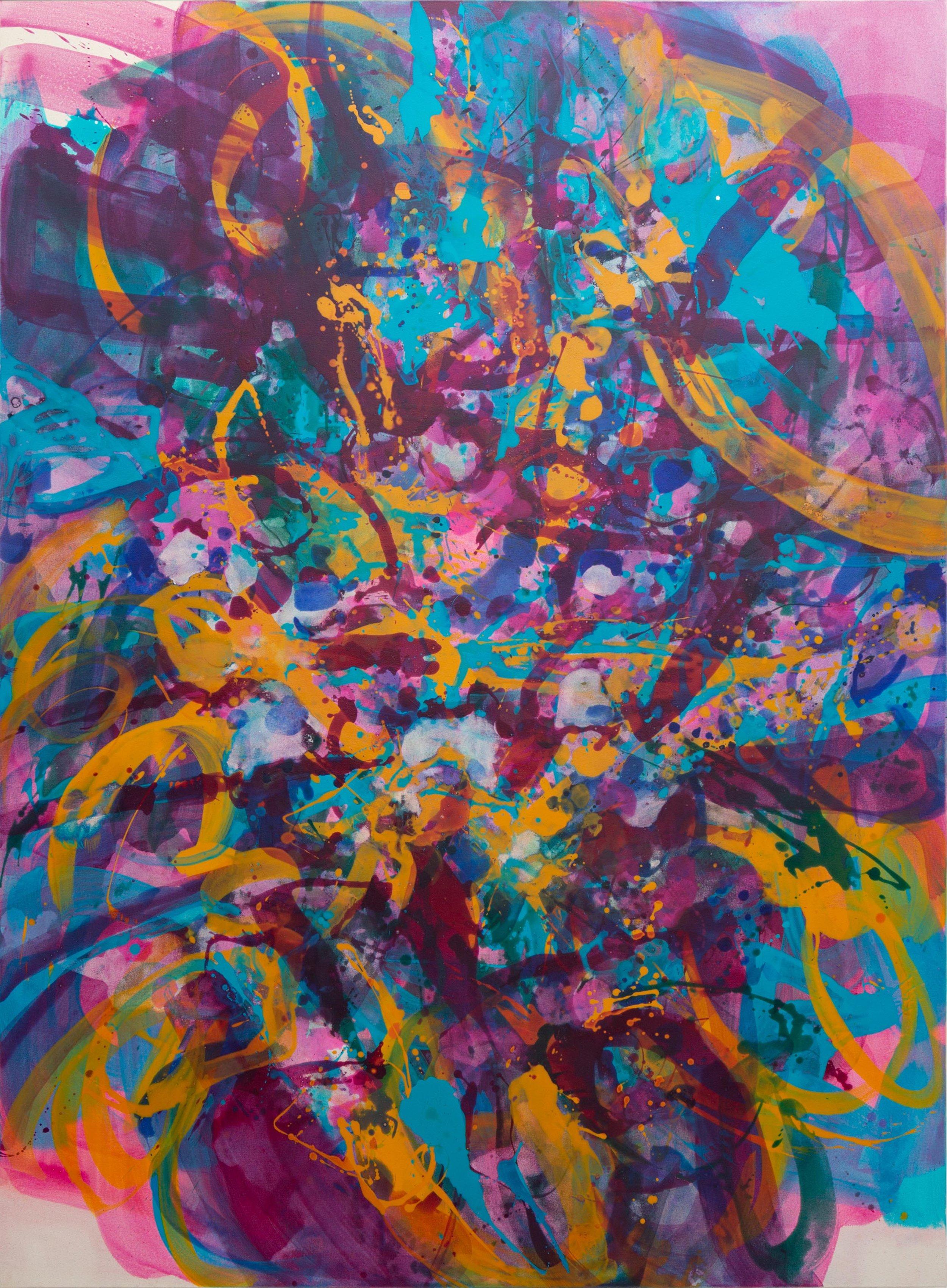 Distemper Composition III  2019  distemper on canvas  (pure pigment, rabbit skin glue)  198 x 145 cm