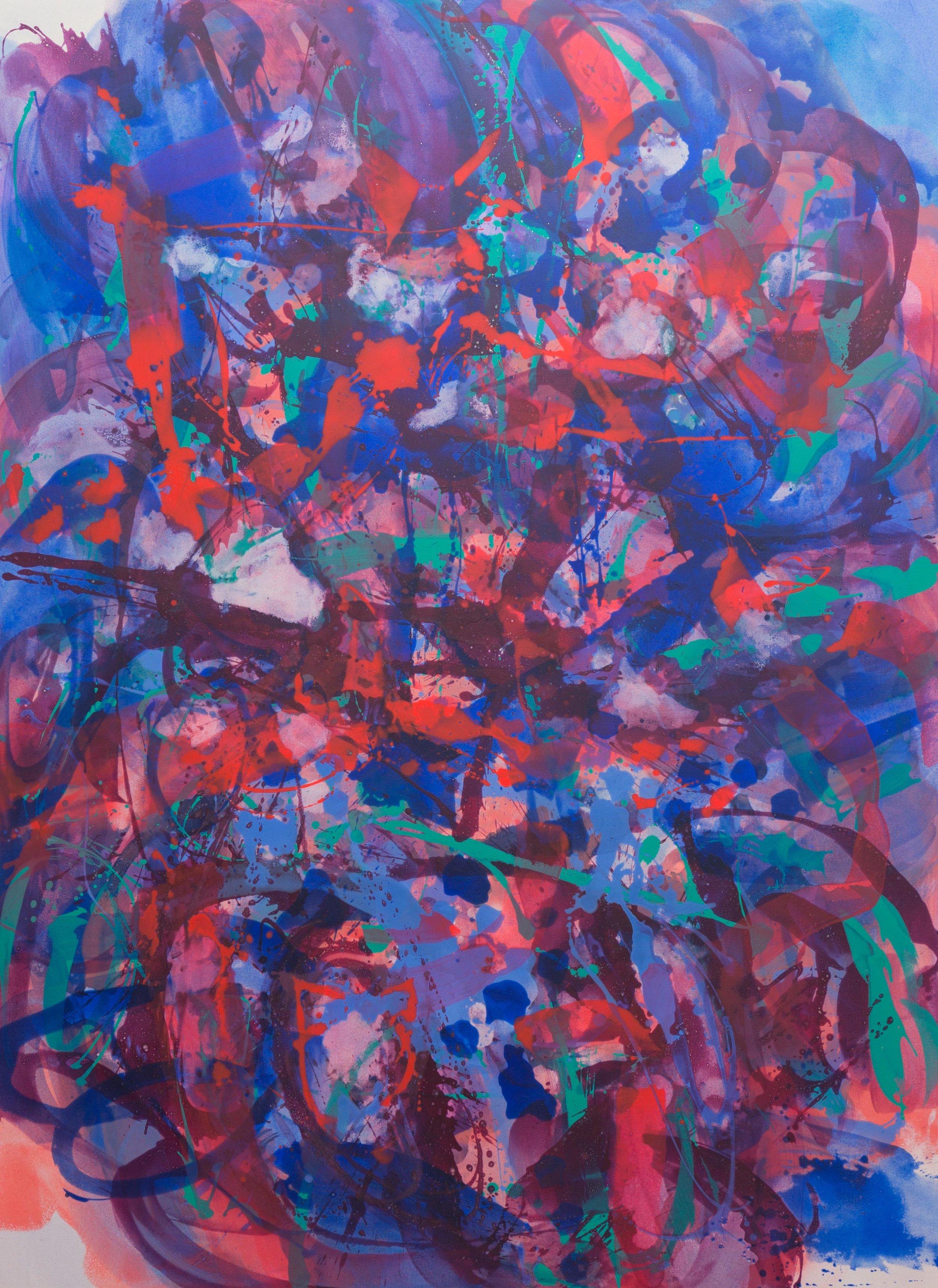 Distemper Composition IV  2019  distemper on canvas  (pure pigment, rabbit skin glue)  198 x 145 cm