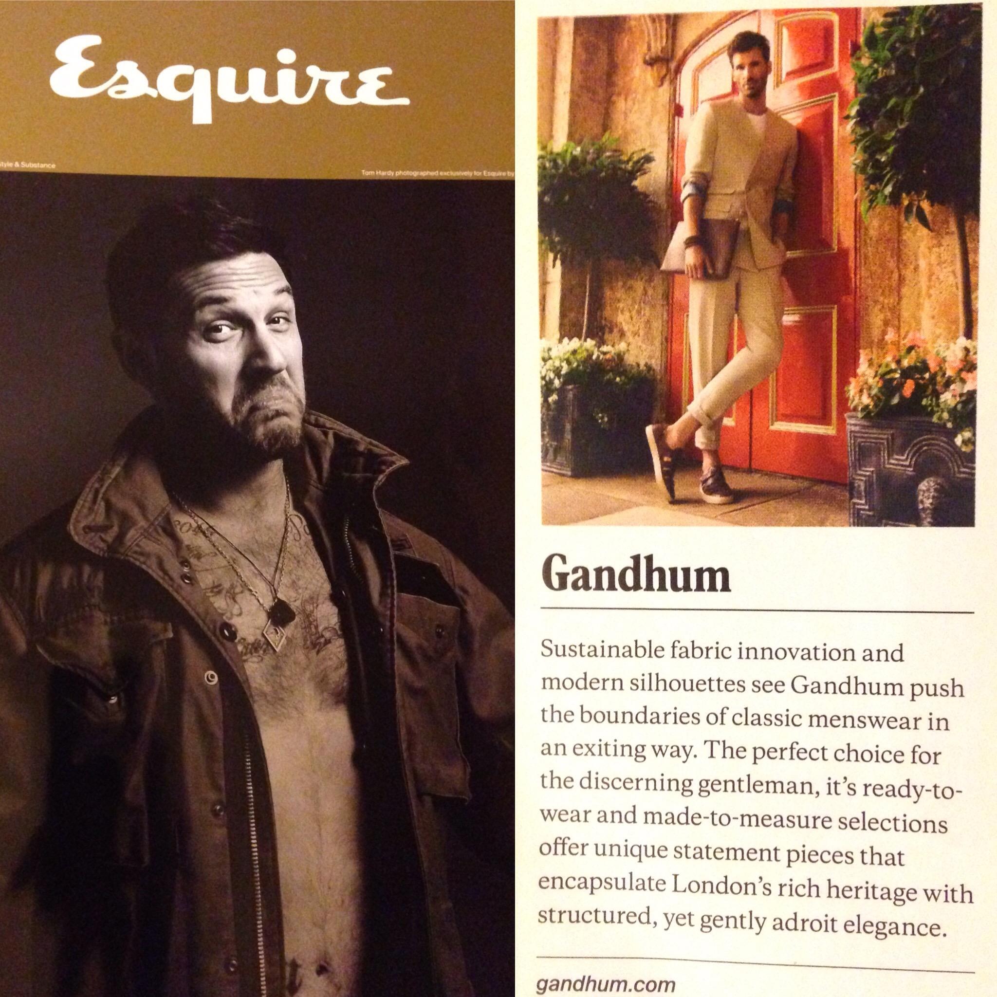 GANDHUM featured in the Esquire Jan/Feb 2017 issue