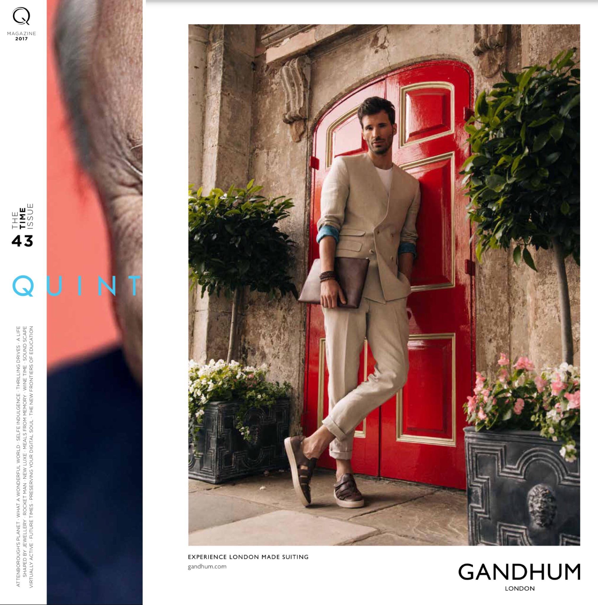 Feature in Quintessentially Q43 magazine, 2017
