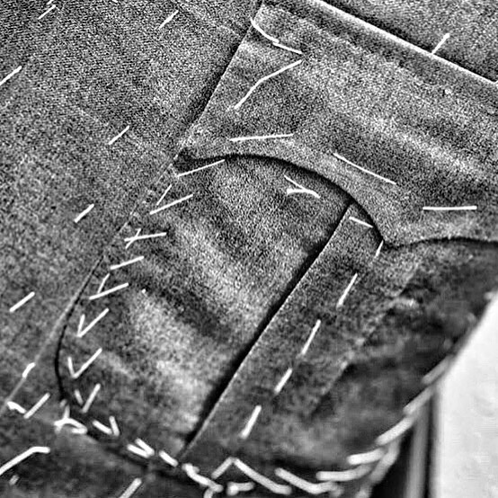 The fine art of tailoring - it's all in the details . . . #gandhum #menswear #details #tailoring #suiting #bespoke #bespokesuit #tailer #madetomeasure #luxury #londonstyle #london #custom #mtm #classic #contemporary #instagood #patchpocket #therake #gq #esquire #mensfashion #menstyle #menswear
