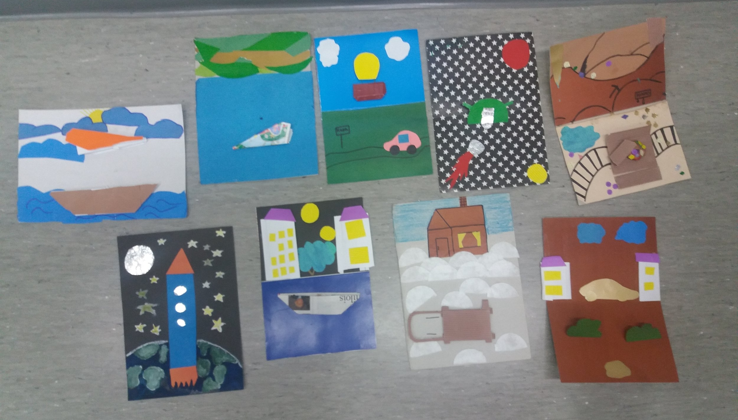 Artworks from the artists at Кепская школа им. Ортье Степанова (Kepa School) in Karelia, Russia