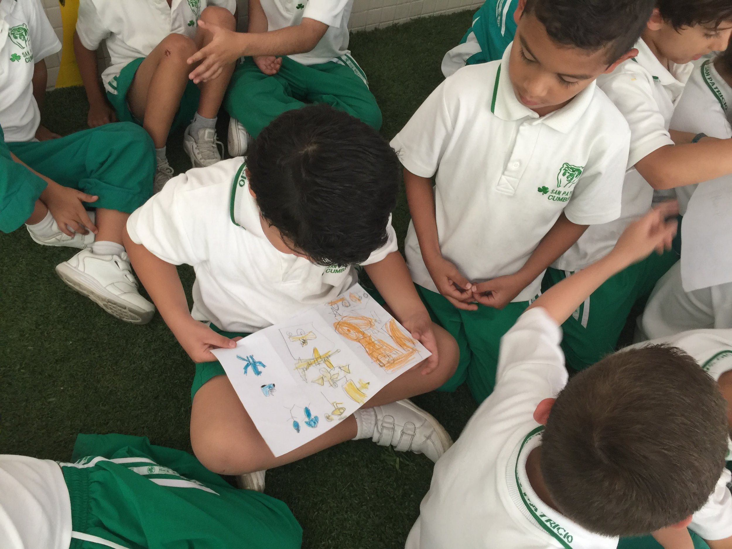 Everybody is so excited to receive artwork from their friends in Dubai!