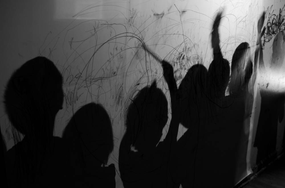 Here are our shadows waving