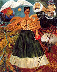 Frida Kahlo,  Marxism Will Give Health to the Sick , 1956
