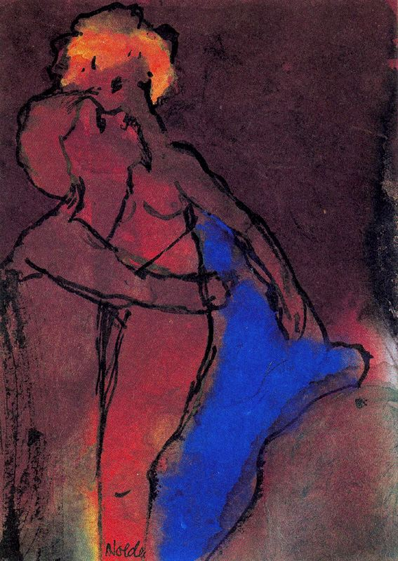 Emil Nolde - Reddish-brown Couple _Embracing_.jpg