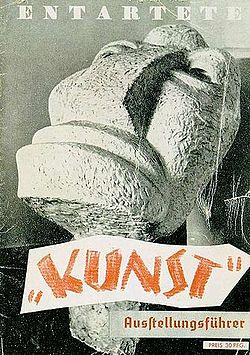 "Program for the ""Degenerate Art"" Exhibition in 1937."