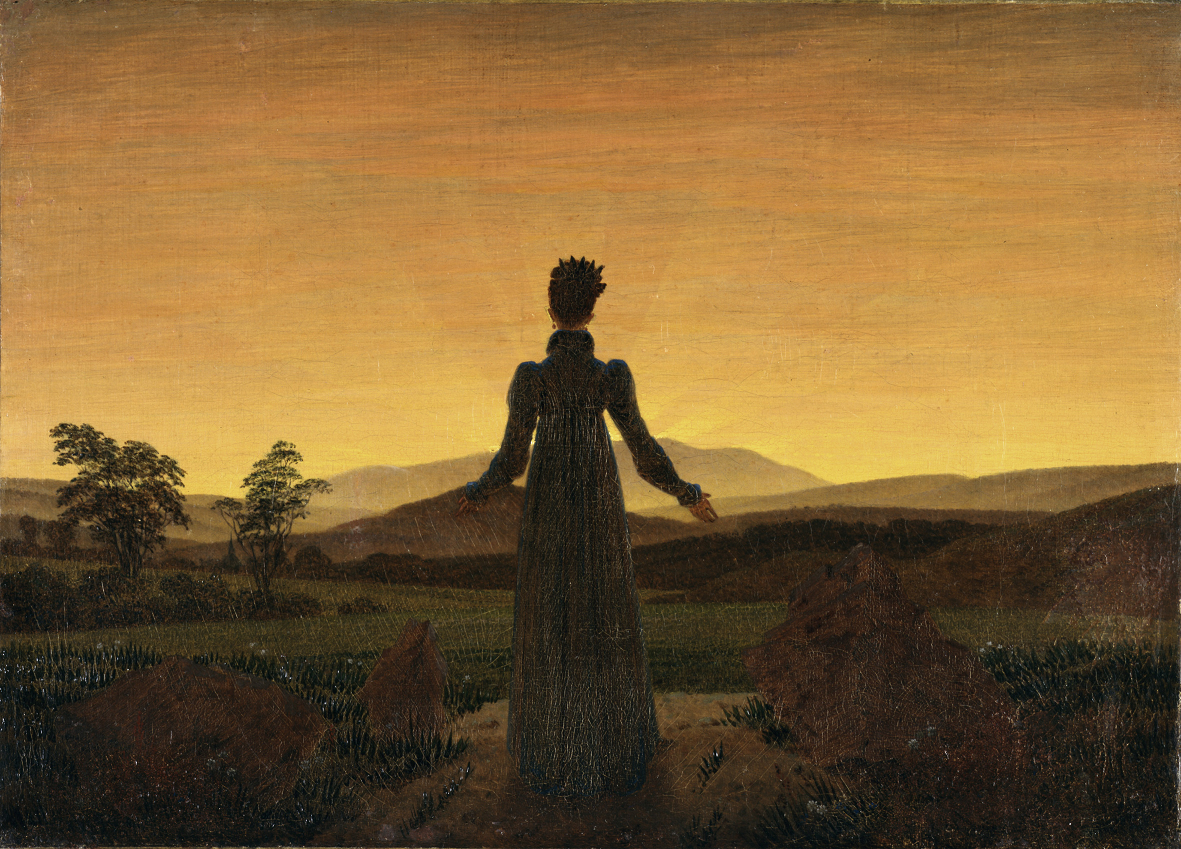Woman Before the Rising Sun , 1818