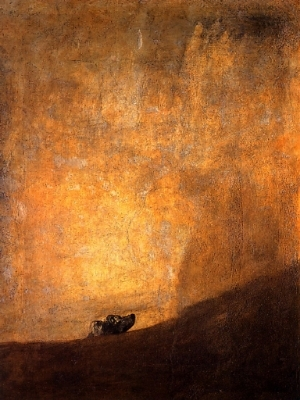 francisco de goya the dog c 1820.jpg