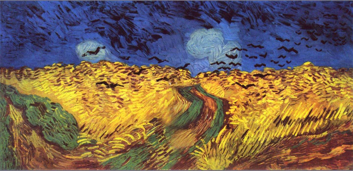 Vincent Van Gogh,  Wheat Field with Crows , July 1890