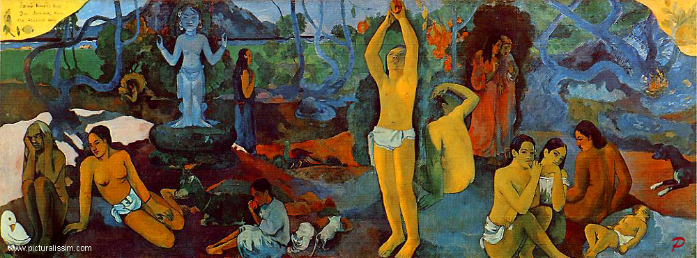 Paul Gauguin,  Where Do We Come From?  Who Are We?  Where Are We Going? , 1897