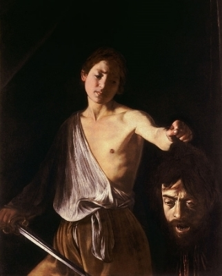 Caravaggio , David Holding the Head of Goliath , 1609-1610