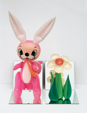 Inflatable Flower and Bunny , 1979