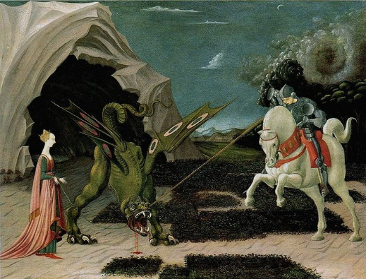 Paolo Uccello,  Saint George and the Dragon,  1470