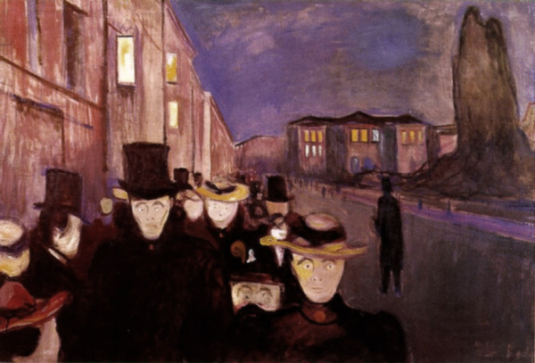Evening on Karl Johan Street , 1892