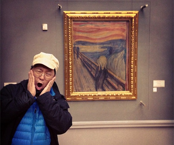 This is artist Takashi Murakami. Clearly this guy hasn't any empathy or respect for Munch or his work.