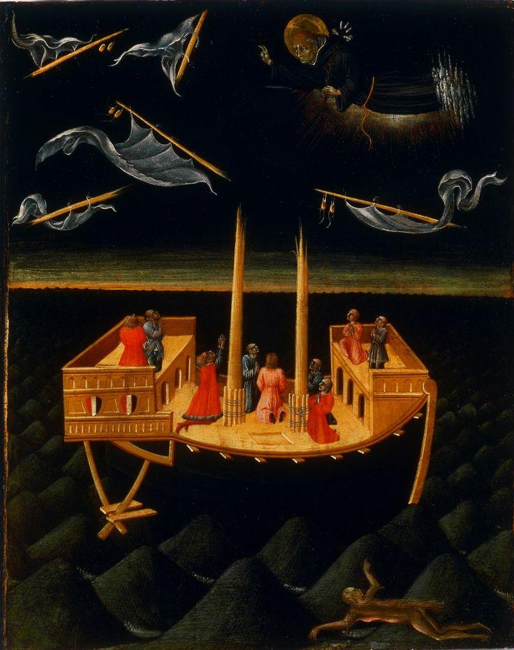 32 Giovanni di Paolo - Saint Nicholas of Tolentino Saving a Shipwreck 1457.jpg