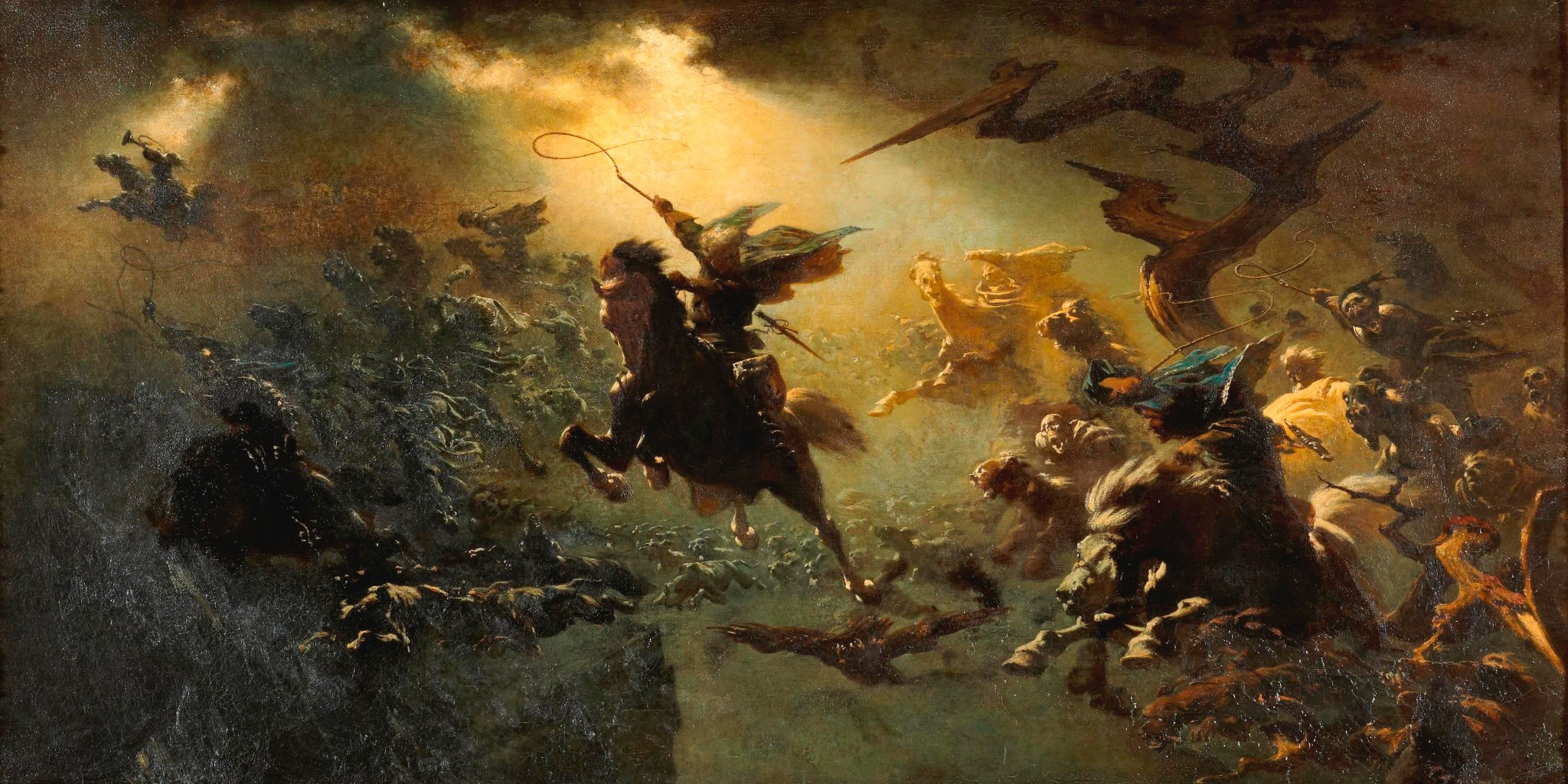 The Wild Hunt  by Johann Wilhelm Cordes, 1857