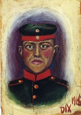 Otto Dix,  Self Portrait as Target , 1915