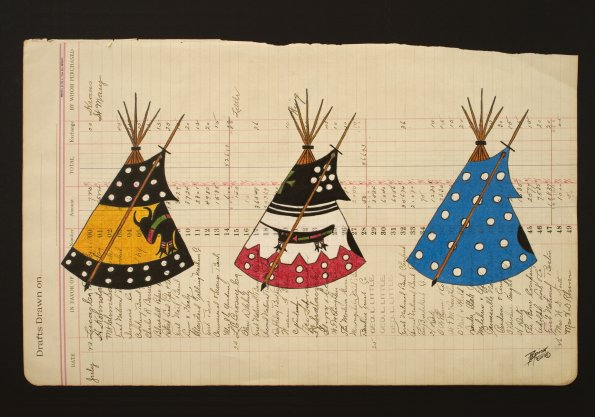 Three Blackfeet Tipis by John Pepion