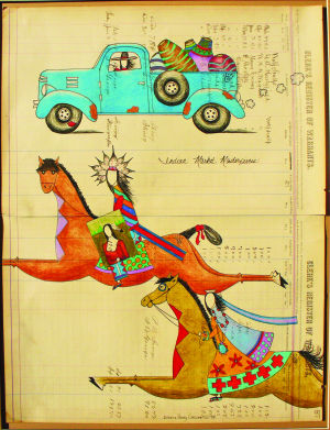 Ledger Art by Dolores Purdy Corcoran