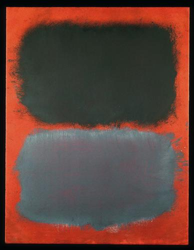 Untitled (Gray, Gray on Red), 1968