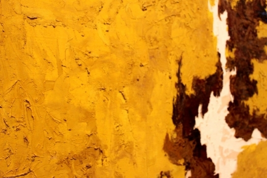 Detail from a Clyfford Still painting, attempting to show the thick, impasto paint.