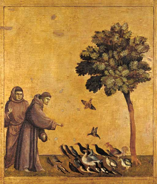 Giotto di Bondone Saint Francis of Assisi Preaching to the Birds, c 1299.