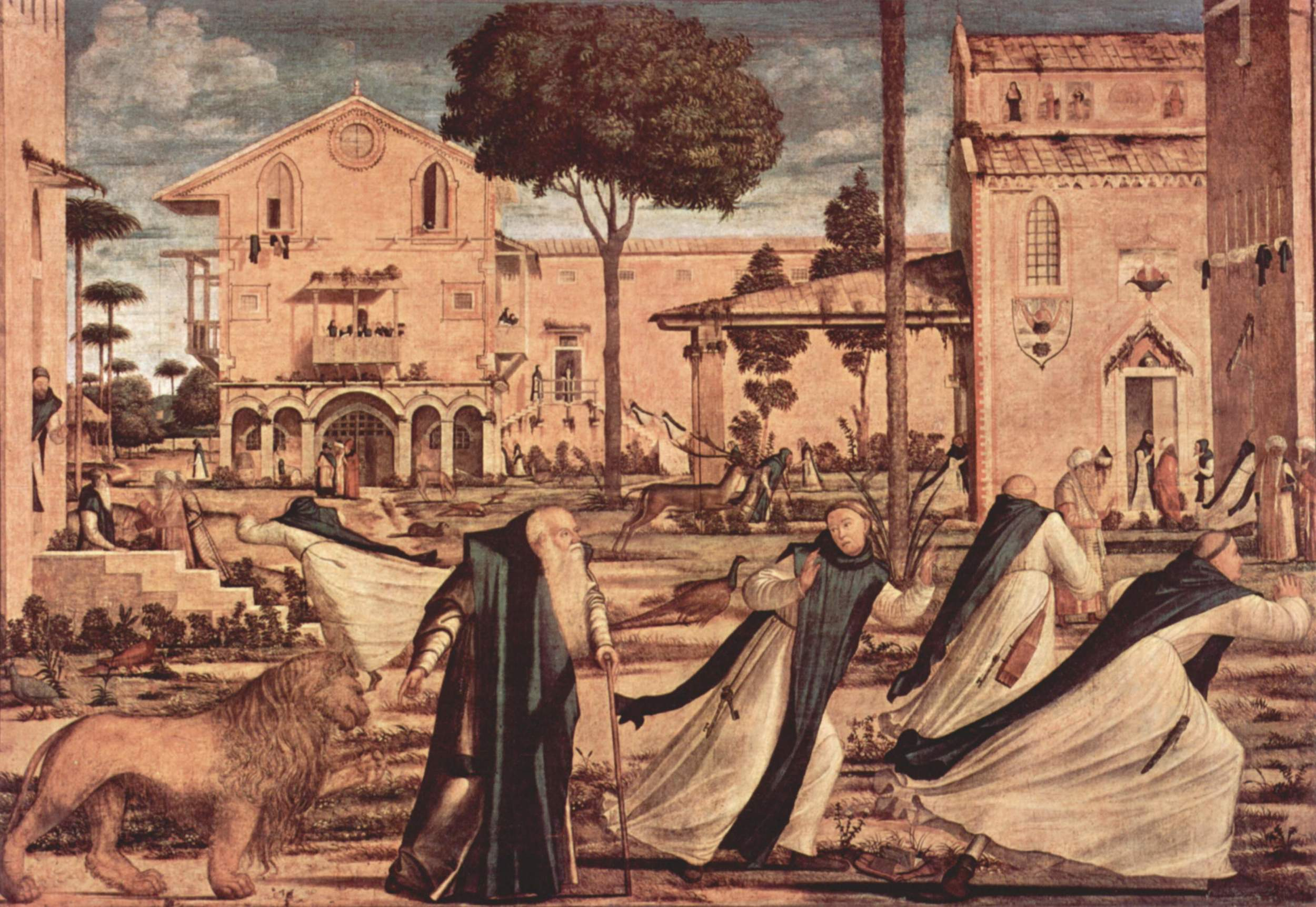 Vittorre Carpaccio's Saint Jerome and the Lion in the Monastery, 1509.