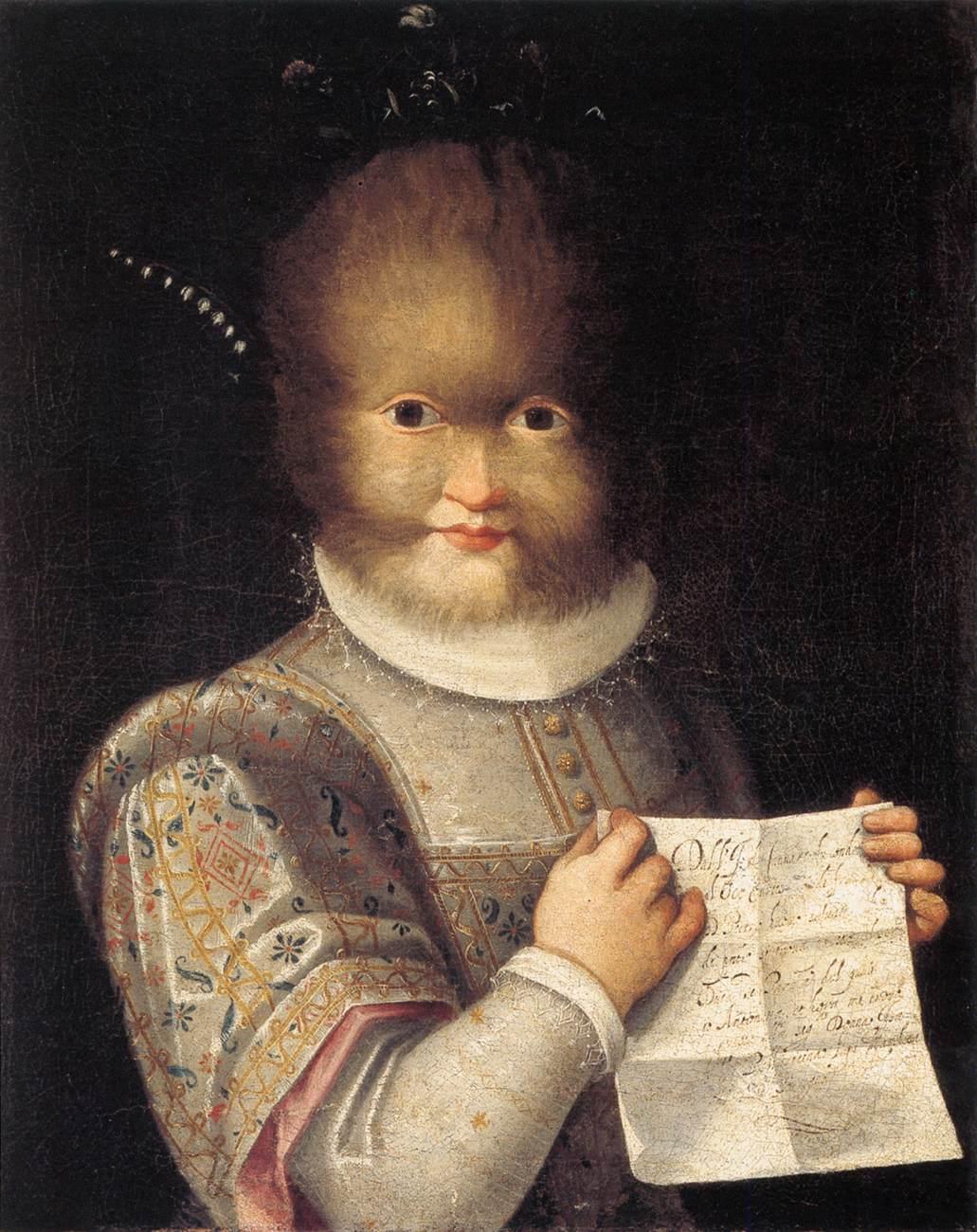 Lavinia Fontana's Portrait of Antonietta Gonzalez, 1595.