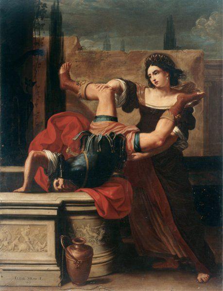 Elisabetta Sirani's Timoclea Killing Alexander's Captain, 1659.
