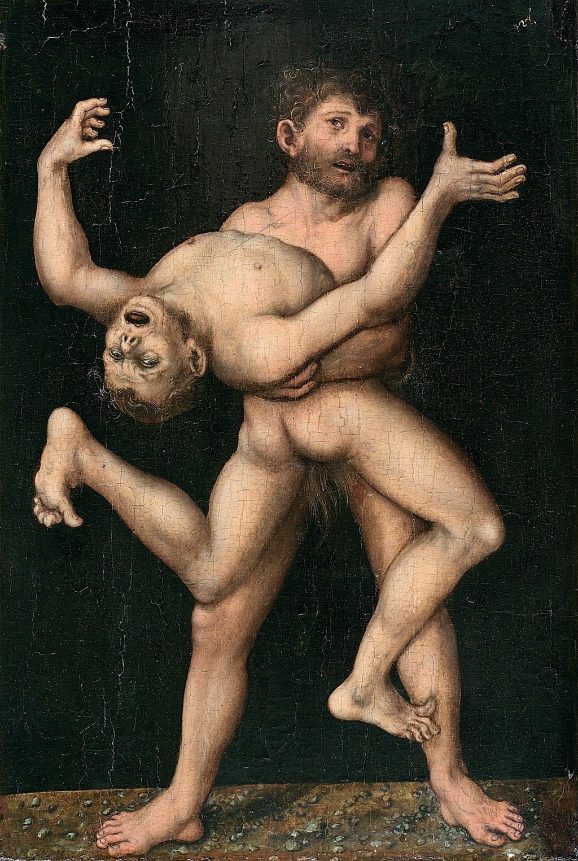 Hercules and Antaeus, c 1530