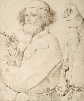 Pieter Bruegel the Elder, The Painter and the Buyer (Self Portrait), 1565