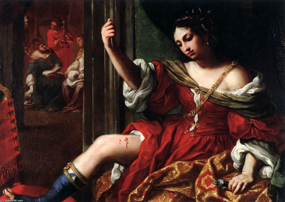 Portia Wounding Her Thigh, 1664