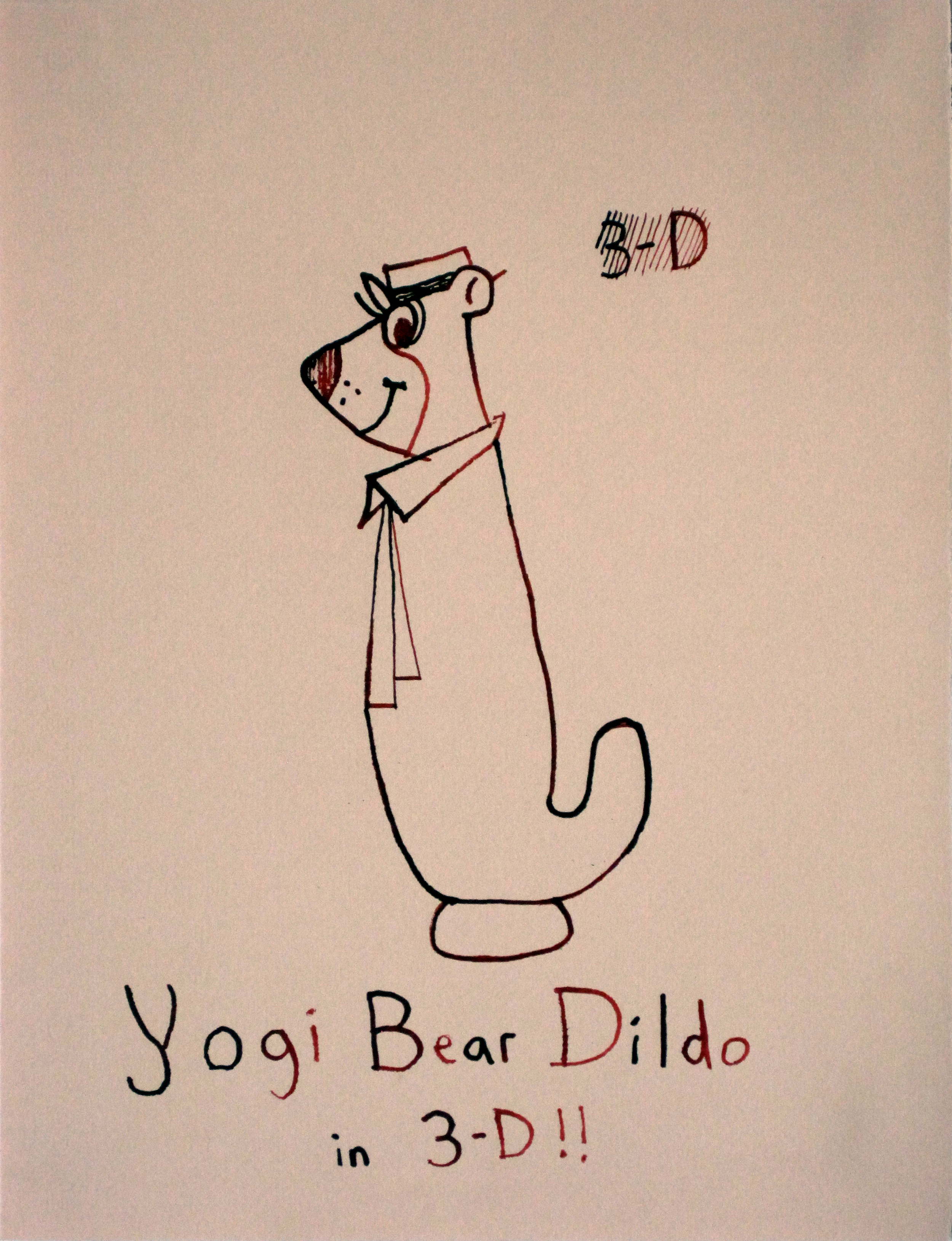 Yogi Bear Dildo in 3D