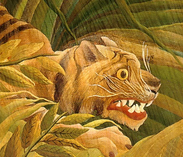 Tiger in a Tropical Storm (Surprised!) (detail), 1891