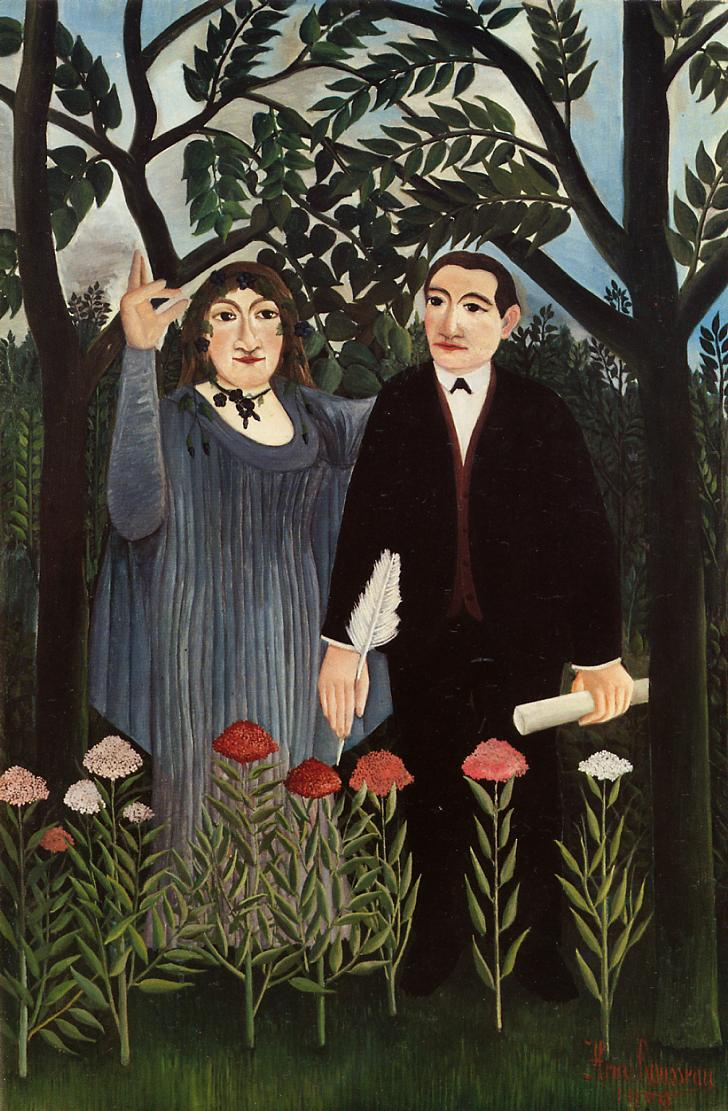 Muse Inspiring the Poet (Portrait of Guillaume Apollinaire and Marie Laurencin), 1909