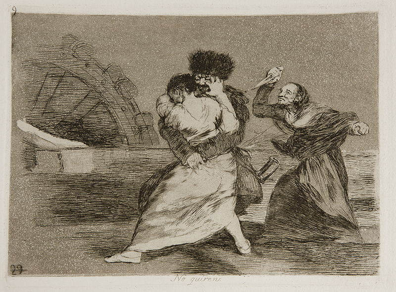 The Disasters of War:  They Do Not Want To, c 1810