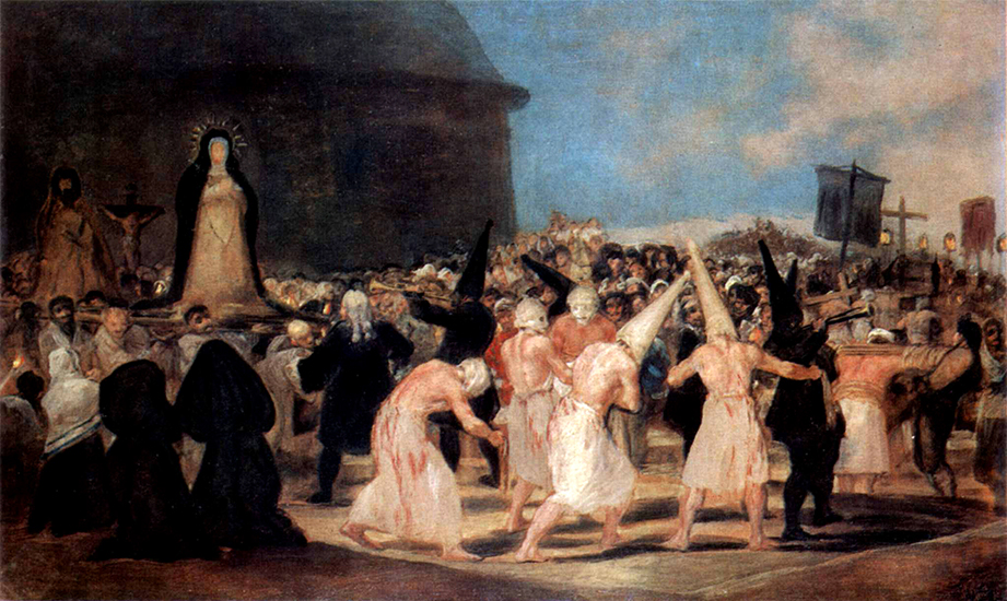 A Procession of Flagellants, c 1819
